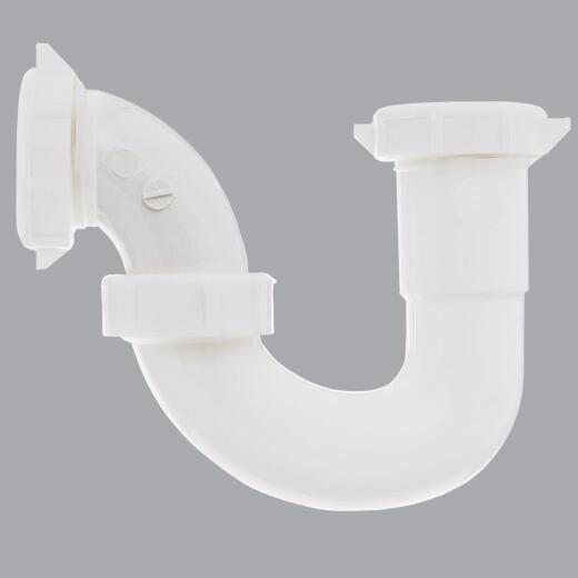 Do it 1-1/2 In. x 1-1/4 In. White Plastic Sink Trap